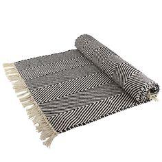 svart vit matta