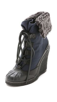 Tory Burch Fairfax Wedge Booties