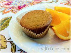 Simple Gluten-Free, Grain-Free Orange Muffins ~ These were delicious, add orange zest for more orange flavor. Coconut Muffins, Coconut Flour, Flour Recipes, Gluten Free Recipes, Gluten Free Grains, Gluten Free Baking, Healthy Baking, Eat Healthy, Healthy Treats