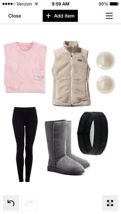 Cold day preppy outfit