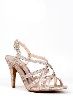 Qupid ILICIA-26 Strappy Glitter Heel -