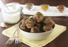 Indian Style Meatballs with Roasted Garlic Cream Recipe