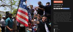 Palestinos queman banderas para recibir a Trump
