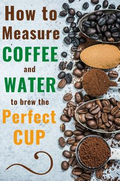 How to measure coffee and water to brew the perfect cup. This water to coffee ratio calculator makes it easy! Great Coffee, Easy Coffee, Hot Coffee, Coffee Club, Cold Brew Iced Coffee, Coffee Barista, Coffee Shop, Coffee To Water Ratio, Craving Coffee