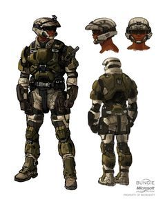 This is a digitally remastered (Hand Drawn Scan) concept art drawing of a UNSC… Halo Game, Halo 3, Armor Concept, Concept Art, Character Concept, Character Design, Main Character, Halo Armor, Tactical Armor