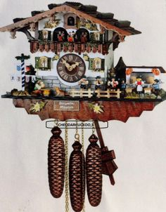 Forest BY Hubert Herr musicians and beer drinkers cuckoo clock 2014