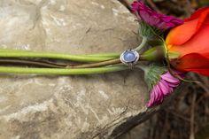 chalcedony diamond white gold custom ring