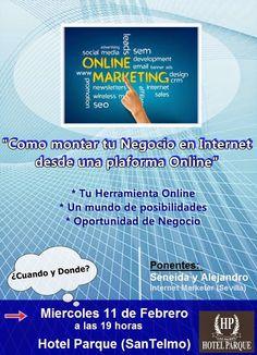 No te pierdas esta oportunidad, dos grandes expertos en Marketing Online... Las Palmas G.C., el 11 de febrero a las 19:00 hs. Plazas limitadas, haz tu reserva: http://jaimelucioni.com/e/conferencia