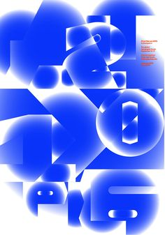 A non-typographic poster for a typography conferenceAssociation Typographique Internationale is an international non-profit organization that promotes the development of typography. They invited us to prepare a poster for their 2016 event held in Warsaw… Graphic Design Posters, Graphic Design Inspiration, Web Design, Typo Logo, Typographic Poster, Poster Layout, Design Language, Blue Art, Illustrations Posters