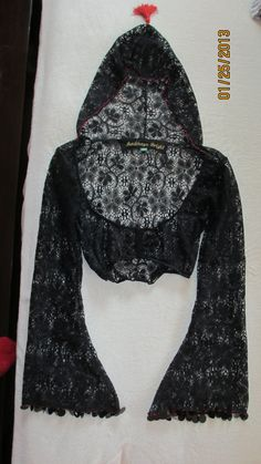 Hooded Top Lace Belly Dance Tribal Gothic by AndrhayaBright, $60.00