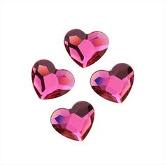 SWAROVSKI ELEMENTS CRYSTAL FLATBACK HEART 2808 RHINESTONE 6MM FUCHSIA 6 from beadaholique.com