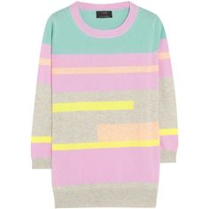 J.Crew Vienna striped cashmere sweater ($238) ❤ liked on Polyvore