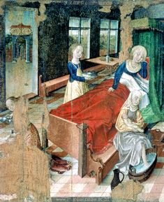 Geburt Mariens  [Birth of Mary], 1488, Frueauf Rueland der Jüngere [Frueauf Rueland the Younger], Wels, Austria