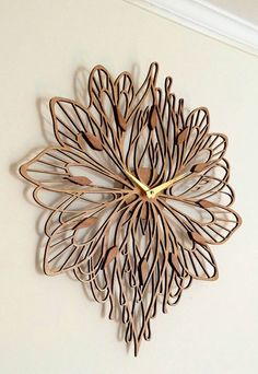 Summer Laser Cut Wood Clock