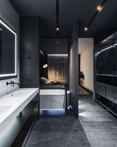 Modern Home Decor Interior Design Dream Home Design, Modern House Design, Bathroom Design Luxury, Decor Interior Design, Design Room, Interior Ideas, Interior Architecture, Luxury Interior, Master Bathroom