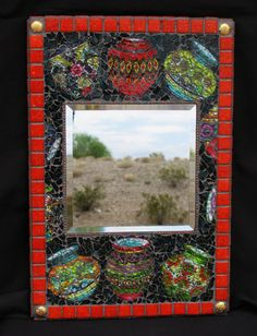 FOR SALE!!!  Southwest Mosaic Wall Mirror Handmadeby CrystalDMosaicDesign,