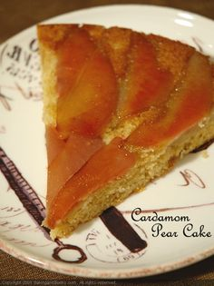 Upside Down Cardamom Pear Cake