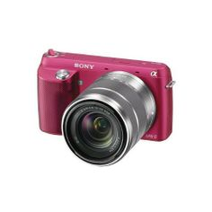 Sony NEX-F3K/P 16.1 MP Compact System Camera with 18-55mm Lens (Pink)