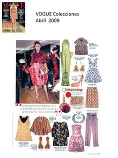 #Colaboraciones con la #Revista VOGUE Colecciones. Abril 2009.