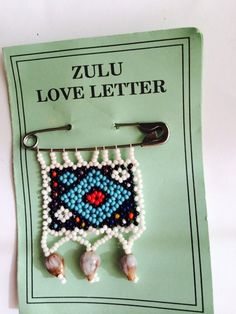 Beaded Zulu LOVE Letter, African Beadwork, Valentine\u0027s Gift
