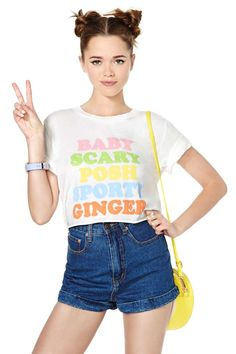 Petals  Peacocks Spice Up Your Life Crop Tee | Shop 24 Hour Party People at Nasty Gal