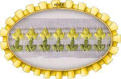 Flor de liz, calada con cinta
