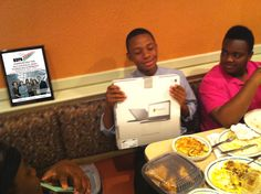 Mr. Anthony Lawson (left) wins a #Google #Chromebook from #BDPA-DC during a TECH Summit Brunch at #IHOP.  Anthony is an IT #Showcase participant  who will present his poster during this year's conference. Join BDPA-DC and celebrate its 35th Anniversary as the Chapter will co-host the 35th Annual National BDPA Technology #Conference, AUG 13-17, 2013, at the Washington Hilton. Visit: www.bdpadc.org  Photo © 2013 bdpatoday