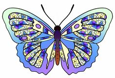 ArtbyJean - Butterflies: Shades of turquoise and aqua - Clip art with butterflies in a variety of colors