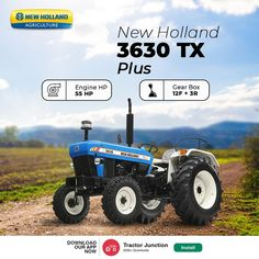 No. Of Cylinder 3 Engine HP 55 HP PTO HP 46.8 HP Gear Box 8+2 / 12+3 CR* / 12+3 UG* Brakes Oil Immersed Multi Disc Brakes New Holland Agriculture, New Holland Tractor, Tractors, Gears, Engineering, Technology, Oil, Tech, Gear Train