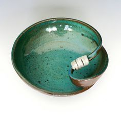 Ceramic Bowl. LOVE the twist! And gorgeous color.