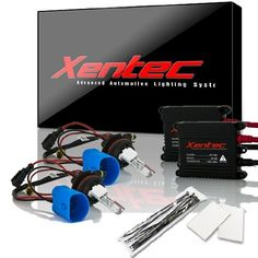 Ultra White Xentec Xenon bulb H13 9008 6000K Hi//lo Telescopic bixenon x 1 pair bundle with 35W Compact Digital Slim Ballast x 2