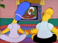Even The Simpson's caught onto yoga! Sut Nam Homer and Marge!!!