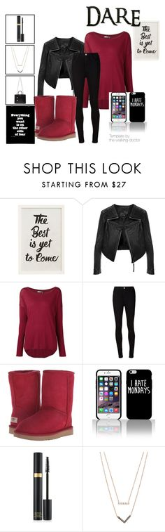 """""""Vampire Diaries"""" by skyler-nelson ❤ liked on Polyvore featuring Pottery Barn, Linea Pelle, Vince, AG Adriano Goldschmied, UGG Australia, Tom Ford, Michael Kors, Yves Saint Laurent, women's clothing and women's fashion"""