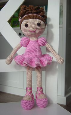 Ballerina Crochet Pattern by DutchDollDesign on Etsy                                                                                                                                                                                 Mais