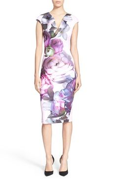 Ted Baker London 'Emaline' Sunlit Floral Print Midi Dress available at #Nordstrom