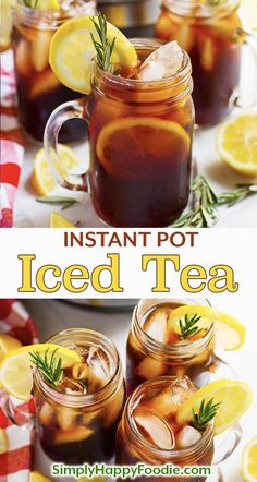 Instant Pot Iced Tea is refreshing and very easy to make. Pressure cooker iced tea is not bitter, and you can make it as strong as you like. Instant Pot Iced Tea recipe using black tea, or your favorite blend Sweet Tea Recipes, Iced Tea Recipes, Detox Recipes, Summer Recipes, Healthy Recipes, Instant Pot Pressure Cooker, Pressure Cooker Recipes, Instant Cooker, Pressure Cooking