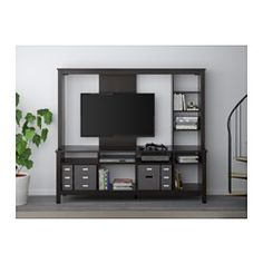 IKEA - TOMNÄS, TV storage unit, white, , You can integrate the TV into the shelf system and still have plenty of room for other media equipment.The opening at the back allows you to easily gather and organize all wires.