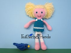 Norie - Little Sister Doll in Gracie Outfit - Crochet Pattern by Alicia Moore of Featherby & Friends