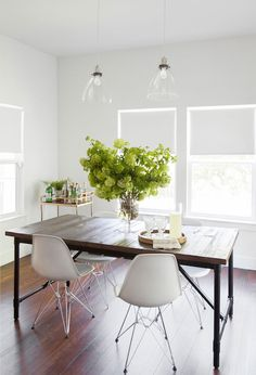 Flatiron Rectangular Dining table, Transitional, Dining Room, Claire Zinnecker Design