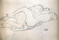 Gustav Klimt: Exuberancia sensual en sus pinturas, simplicidad con el lápiz