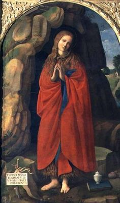 AII80457 St. Mary Magdalene (panel) by Viti, Timoteo (1467-1524) oil on panel Palazzo Ducale, Urbino, Italy Italian, out of copyright