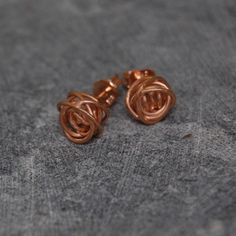 Rose Gold Nest Earrings, £33, now featured on Fab.