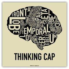 nursing brain typograph