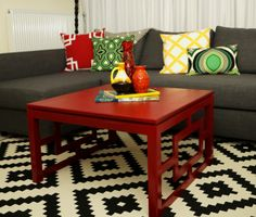 DIY Lattice Coffee Table- would live to add lattice onto existing coffee table.