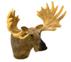 Moose Head Mount Large | Mary's Dollhouse Miniatures