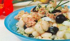 Ensalada de alubias blancas con atún #recipes #cuisine