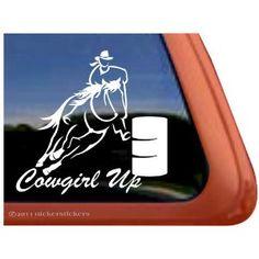 Barrel Racing Rodeo Horse Trailer Car Truck Window Vinyl Decal - Barrel racing custom vinyl decals for trucks