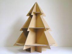 ダンボール工作 クリスマスツリー