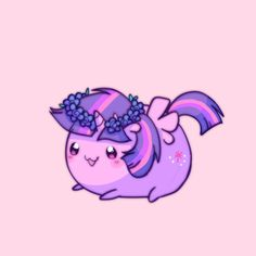 #914637 - artist:pekou, chubbie, floral head wreath, part of a set, princess twilight, safe, solo, twilight sparkle - Derpibooru - My Little Pony: Friendship is Magic Imageboard