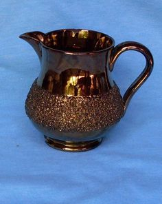 Antique Lustreware Ceramic Pitcher in Copper by CharlotteSmiley, $70.00